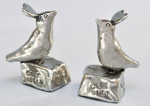 tamara hensick, love bird, pewter,