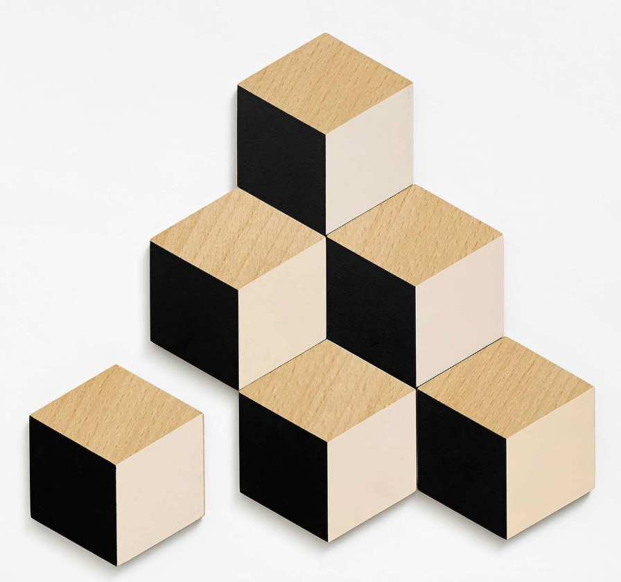 Beige and Black Table Tiles Coasters