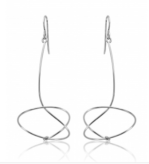 Sue Rosengard Silver Swoop Kinetic Earrings