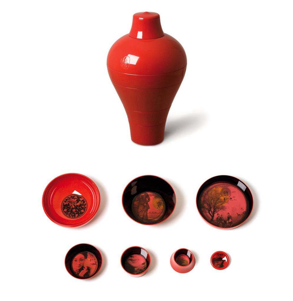 iBride Ming Rouge - Stackable Dinner Set