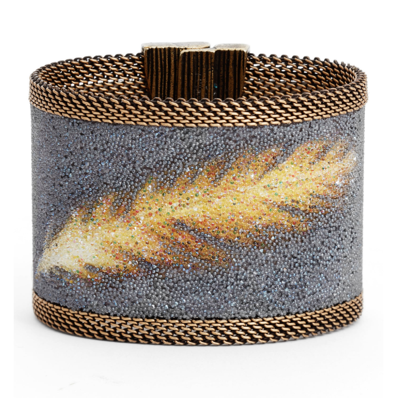 Cynthia Desser Swarovski Crystal Feather Cuff