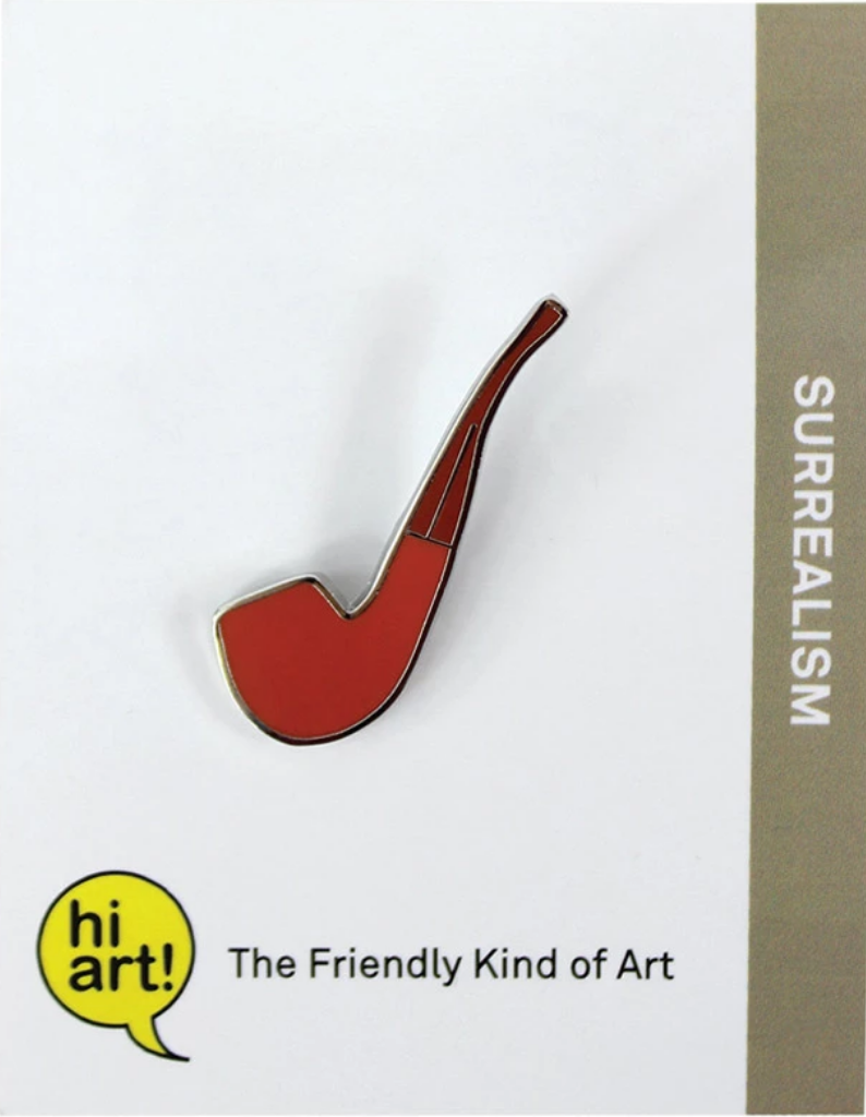 Hi Art! Magritte Pipe Enamel Pin