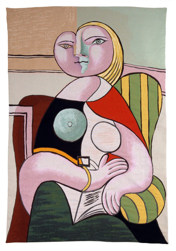 "Jules Pansu Tapestry: ""La Lecture"" Picasso"