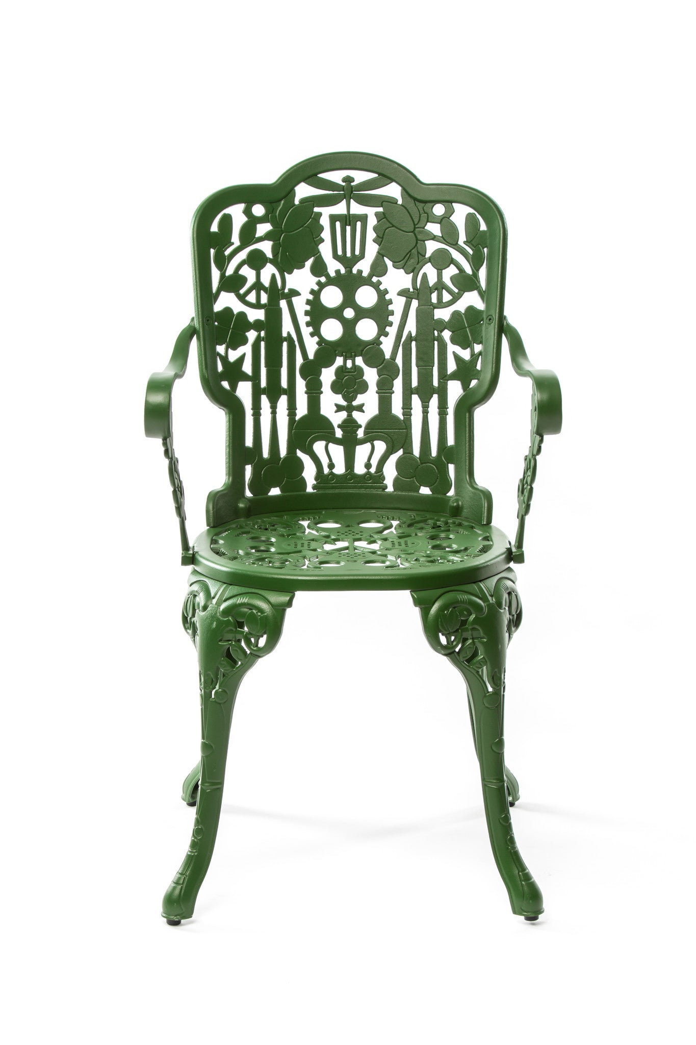 Seletti Studio Job Aluminum Armchair Green