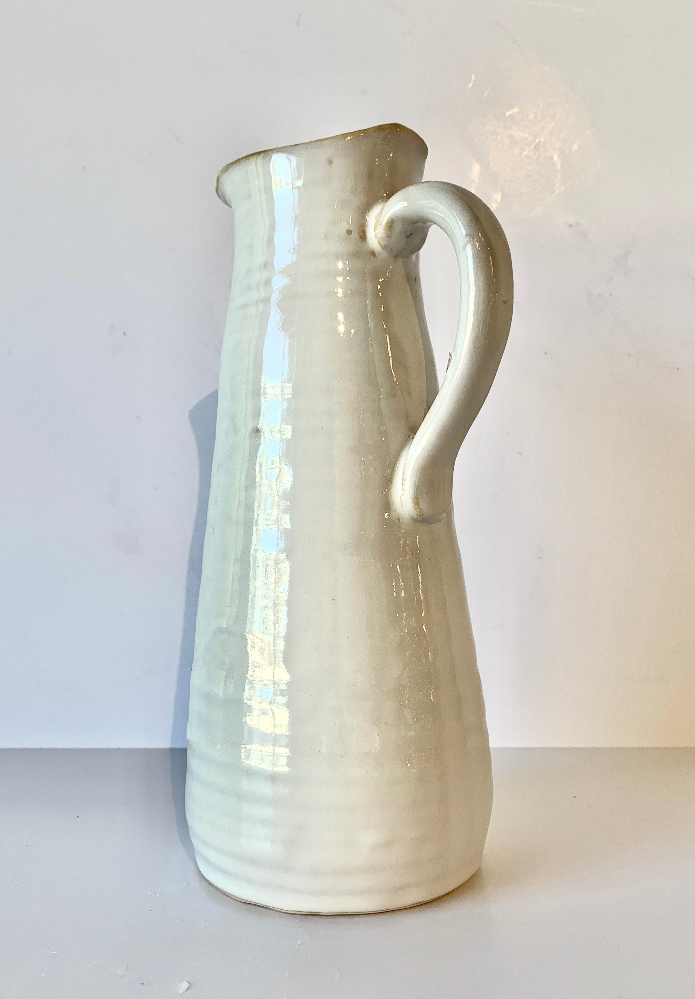 White Washed Pitcher