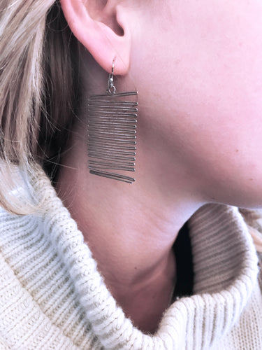 Maddalena Bearzi Silver Accordion Earrings