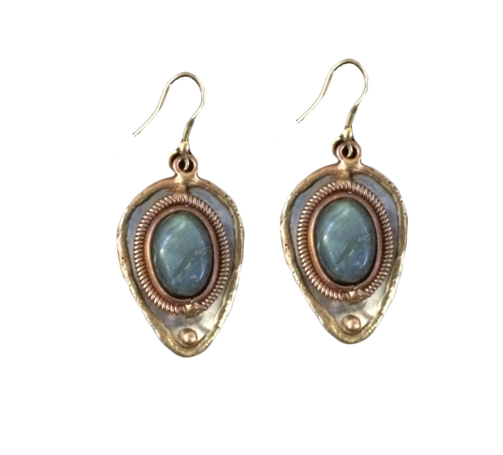 Grey Labradorite Earrings