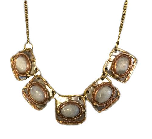 Anju Rainbow Moonstone Necklace