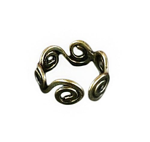 Anju Spiral Brass Ring