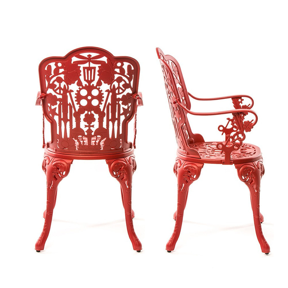 Seletti Studio Job Aluminum Armchair Red