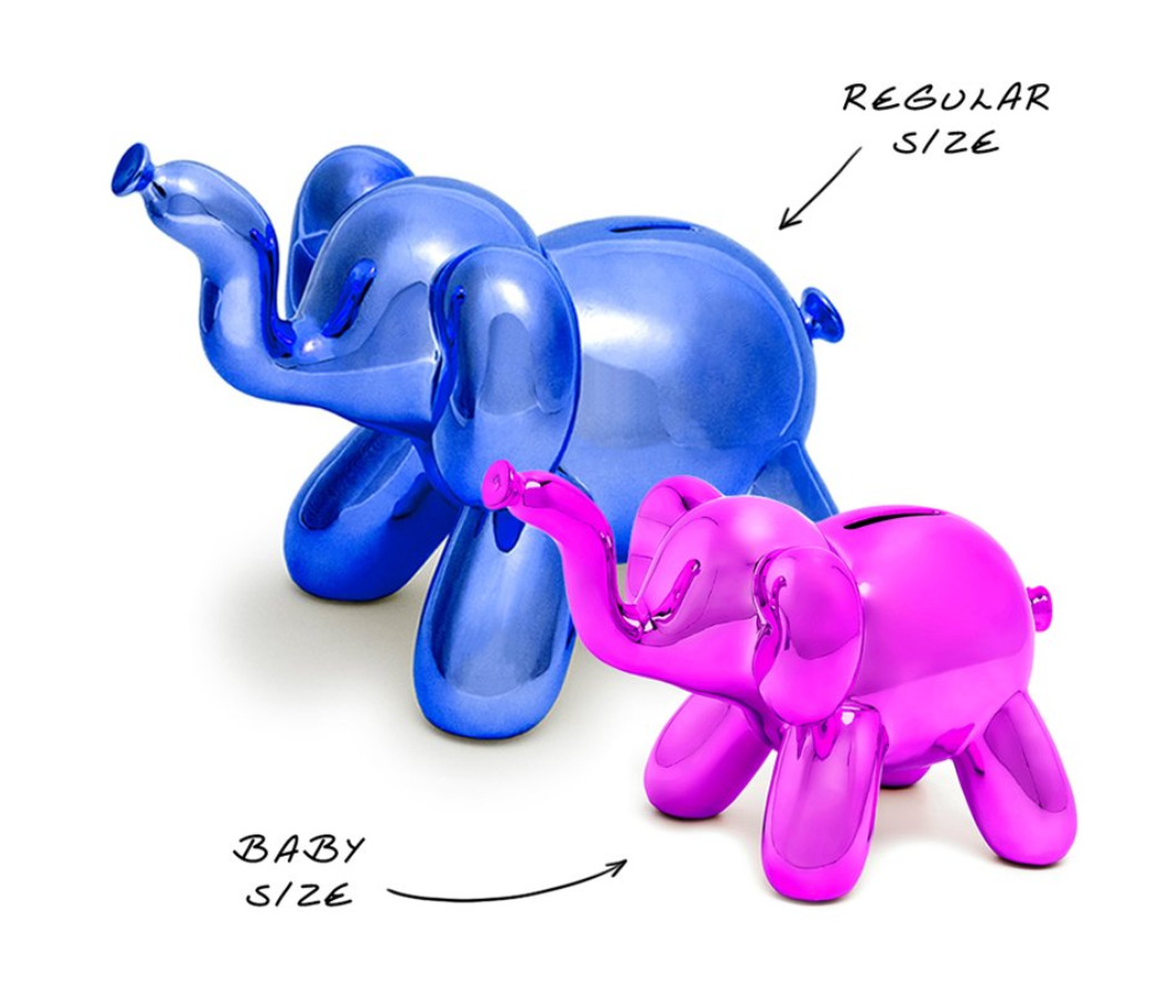 Jeff Koons Balloon Elephant Bank