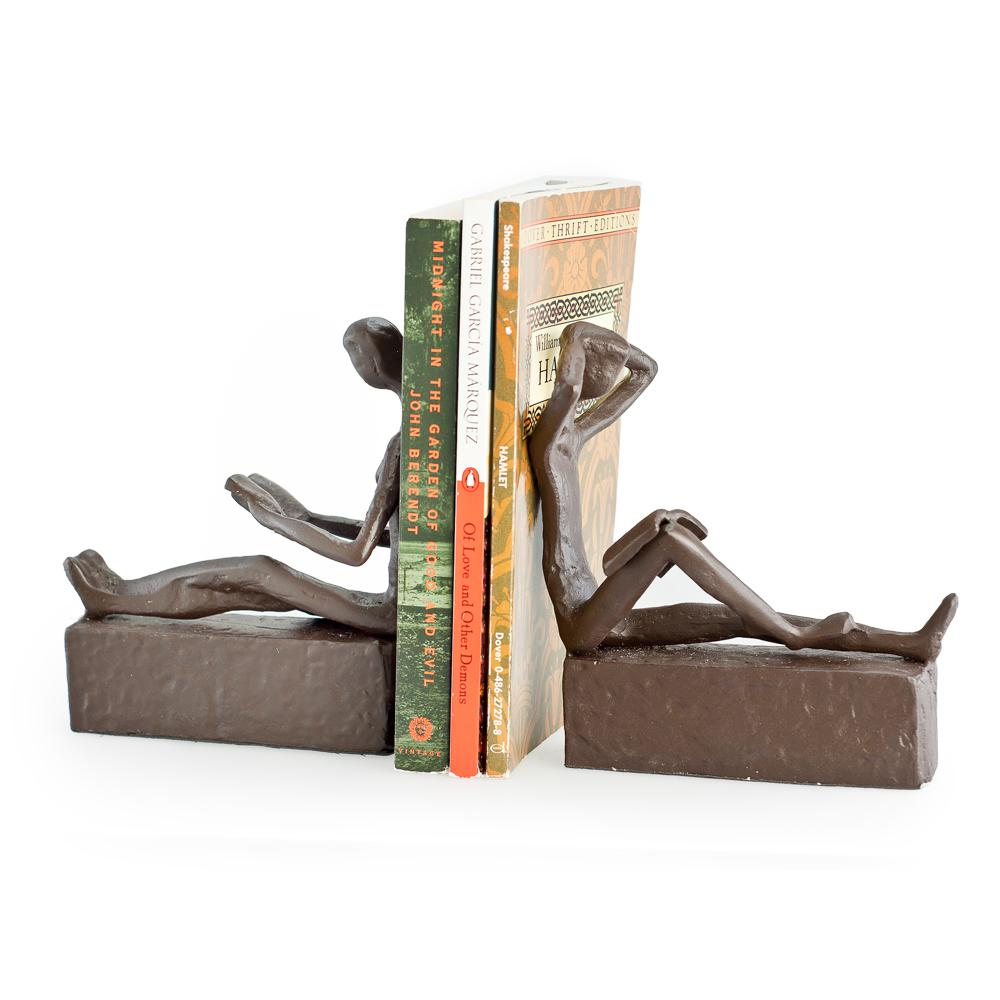 Danya B. Bronze Reading Couple Bookends