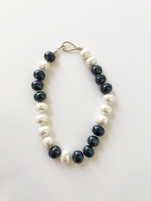 Catherine Canino Large Pebble Pearl Necklace