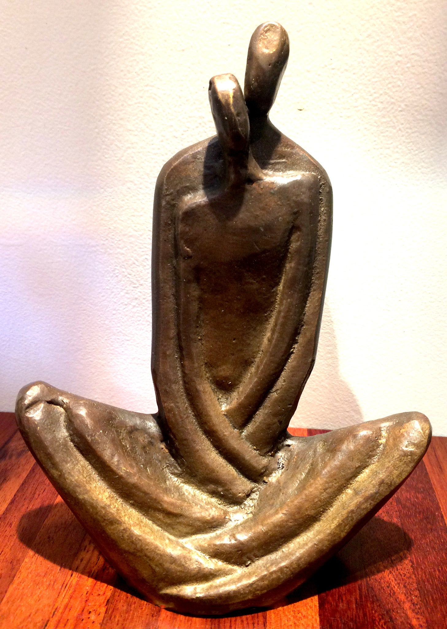 Danya B. Couple Embrace Bronze Sculpture