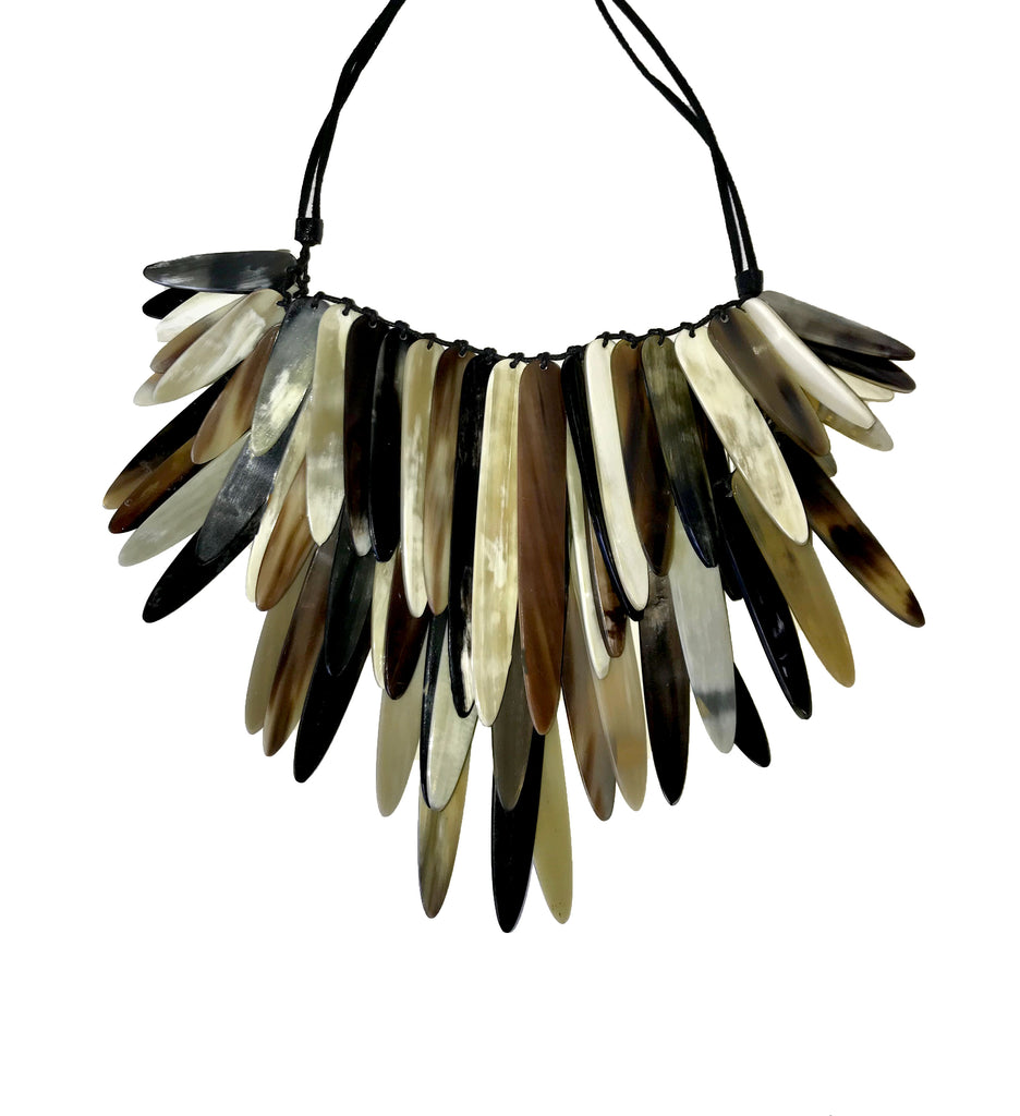 Horn Up-cycled  Necklace