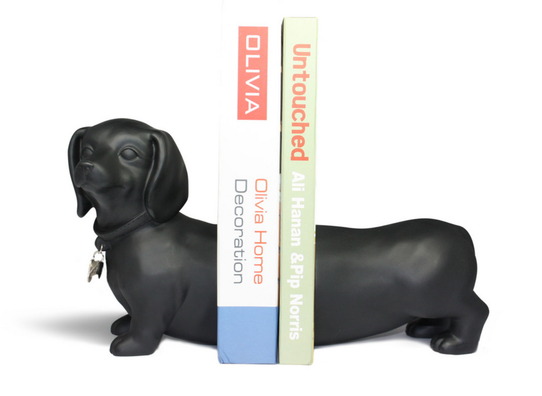 Expandable Dachshund Book Ends