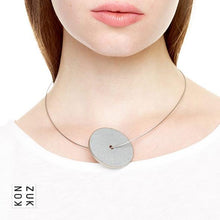 Konzuk Concrete Discus Necklace