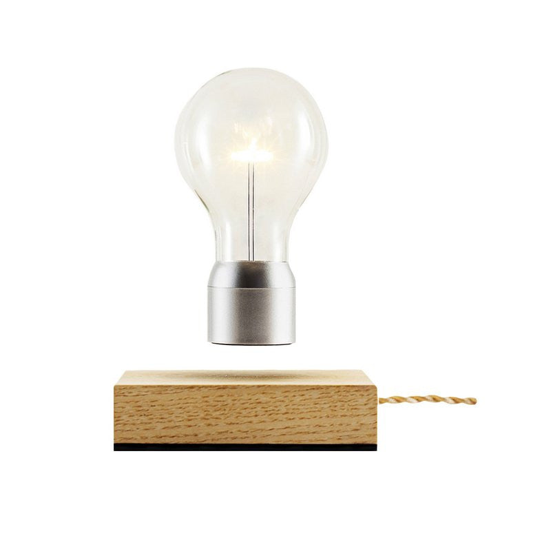 Flyte Floating Light Bulbs Royal Light Wood and Silver