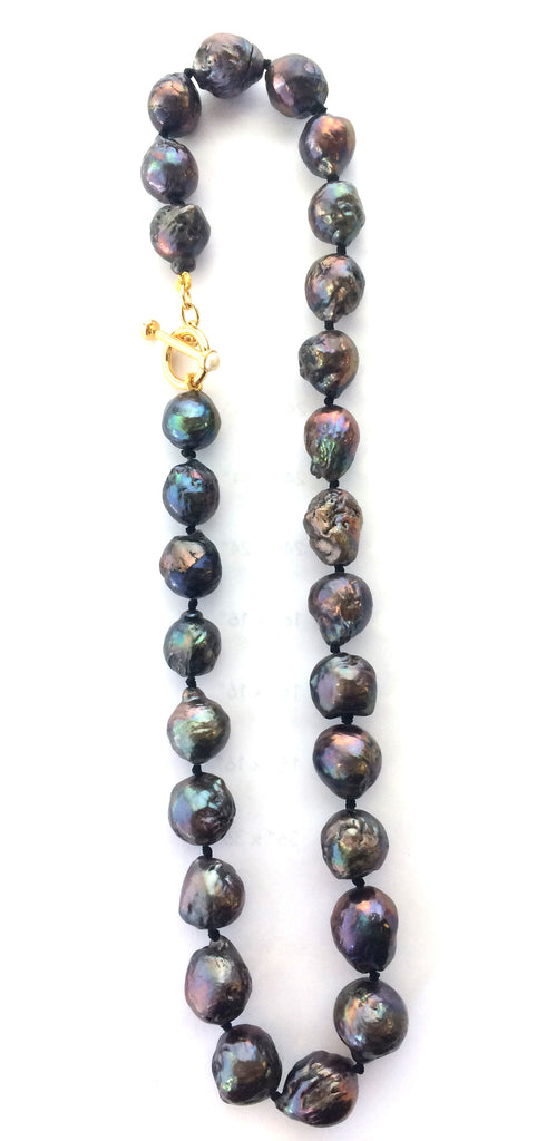 Scarab Pearl Necklace