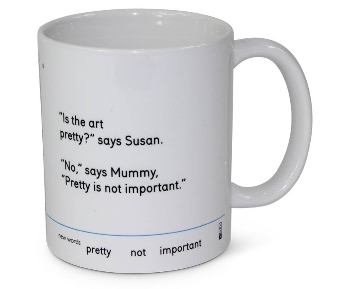 is the art pretty mummy mug we go to the gallery