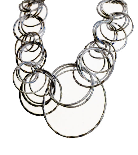 Anju Silver Hoop Necklace