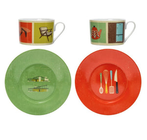 The Modern Home Cups and Saucers - Living room and Kitchen collection