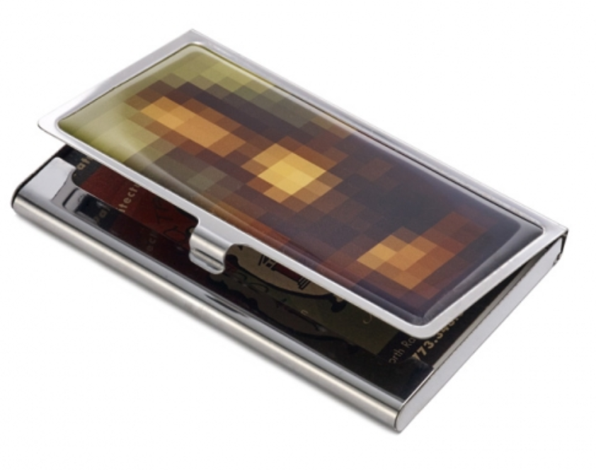 mona lisa business card case