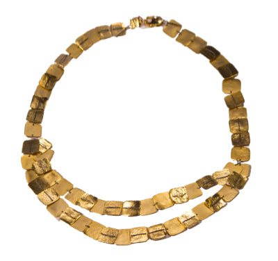 Diana Schimmel Gold Vermeil Double Strand Necklace