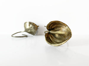 Tamara Hensick White Bronze Anthurium Napkin Holder Sculpture