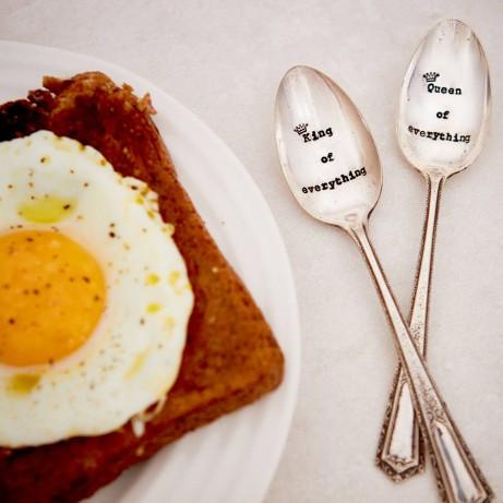 Vintage Hand-stamped Spoon Set