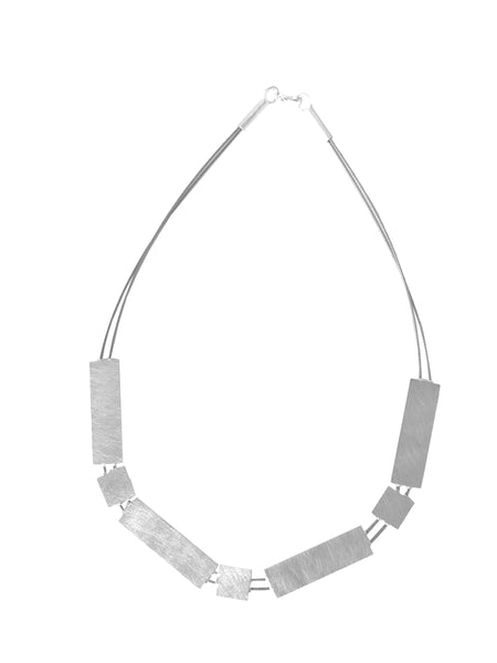 Geometric Steel Cable Necklace