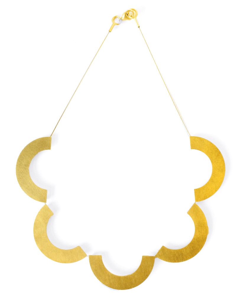 Petra Meiren Gold Scalloped Necklace