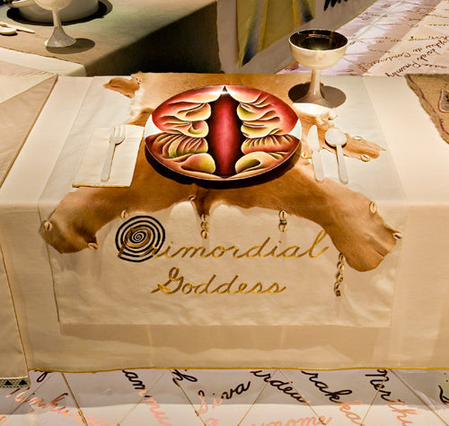 Judy Chicago The Dinner Party Primordial Goddess