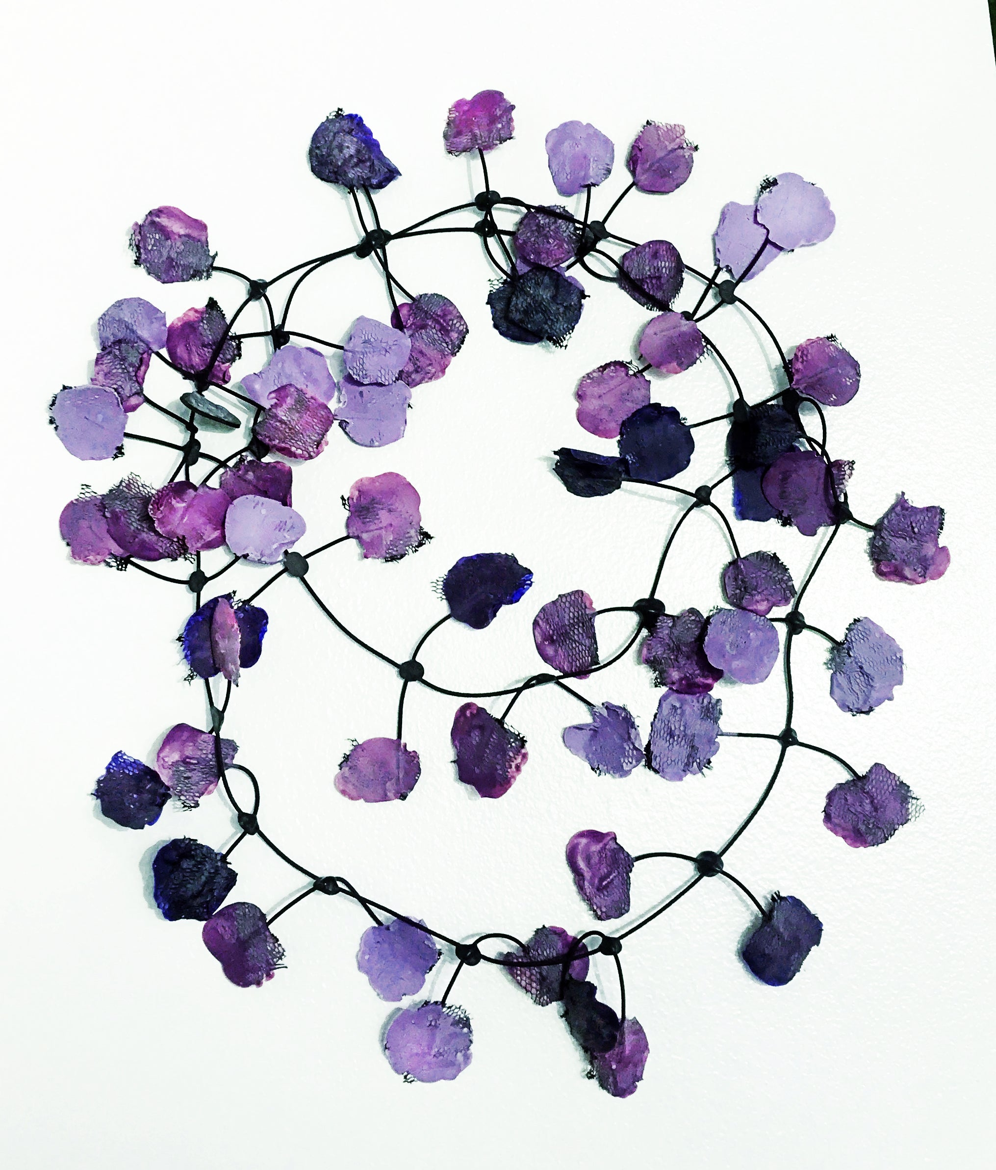 Annemieke Broenink Purple Poppy Necklace
