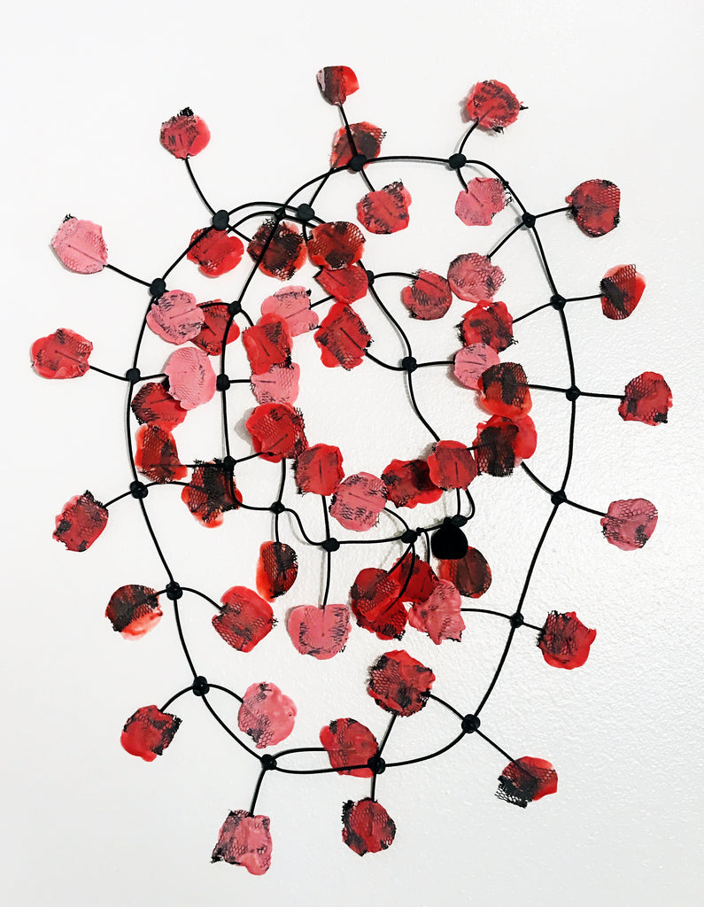 Annemieke Broenink Red and Pink Poppy Necklace