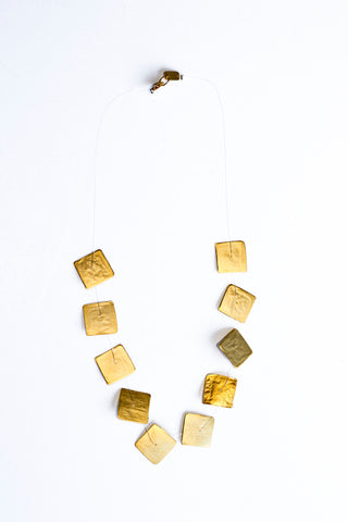 Gold Vermeil Square Necklace