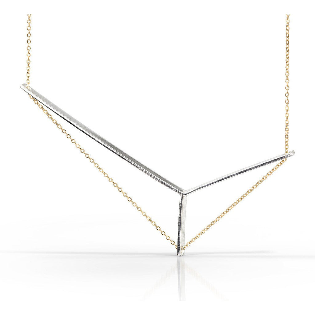 Venessa Gade Axis Necklace in Silver and Gold