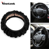 Plush Car Steering Wheel Cover