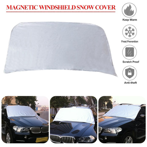 Car 210D Oxford Covers Windscreen Magnetic Cover Heat Sun Shade Anti Snow Frost Ice Sun Shield Dust Protector Winter Summer