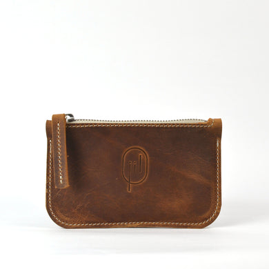 single wallet cognac
