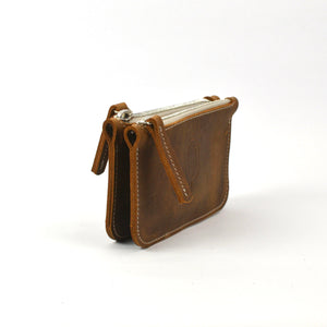 twin wallet cognac