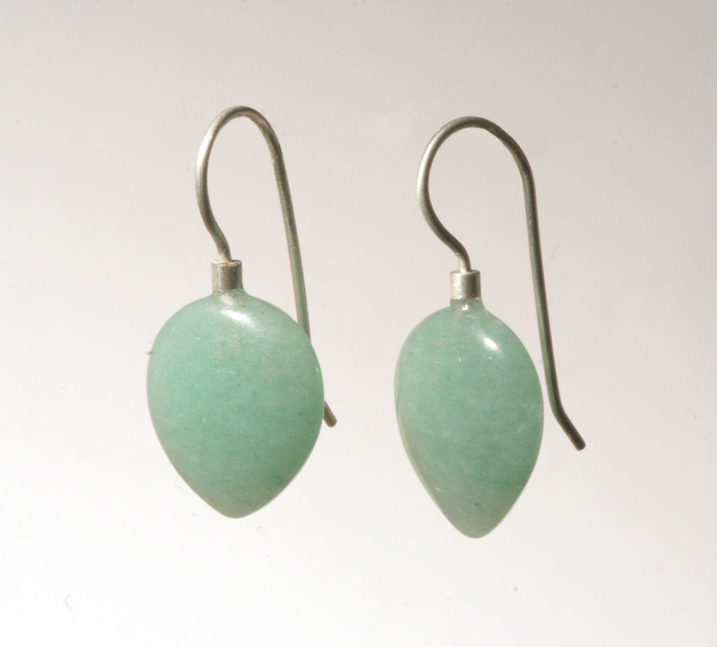 Aventurine Petal Earrings