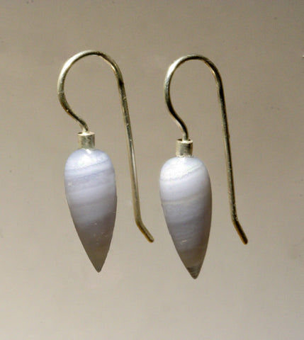 Blue Lace Agate Pointed Drops