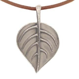 Bodhi Leaf Pendant (in stock)