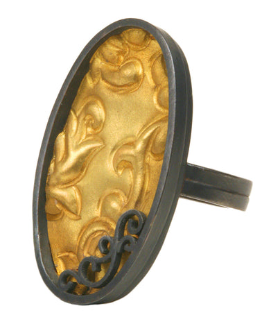Brocade Oval Ring