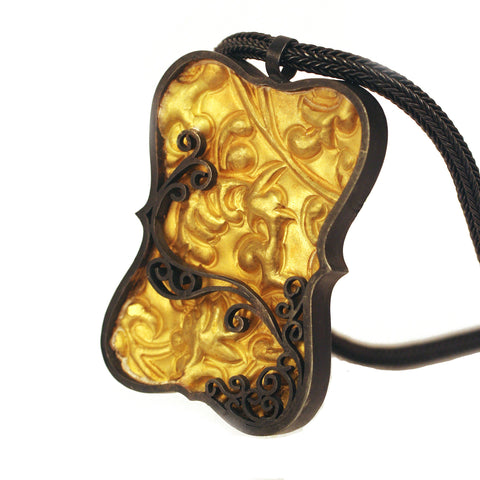 Brocade Tablet Pendant (In Stock)