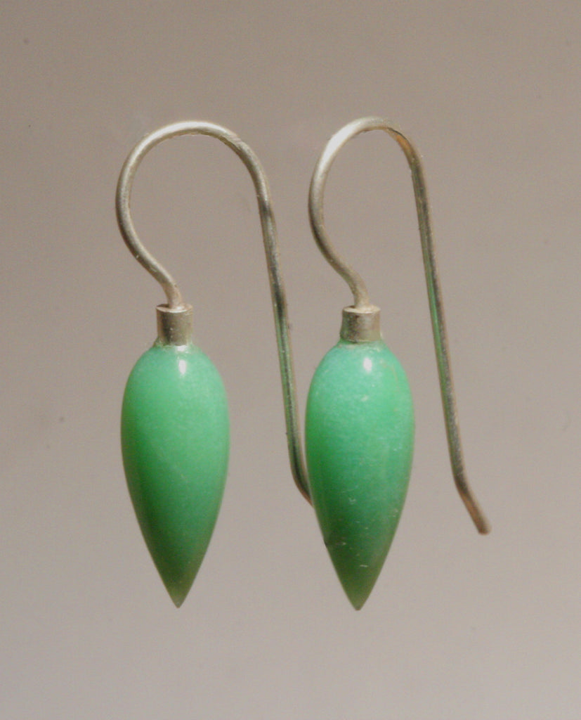 Chrysoprase Pointed Drops