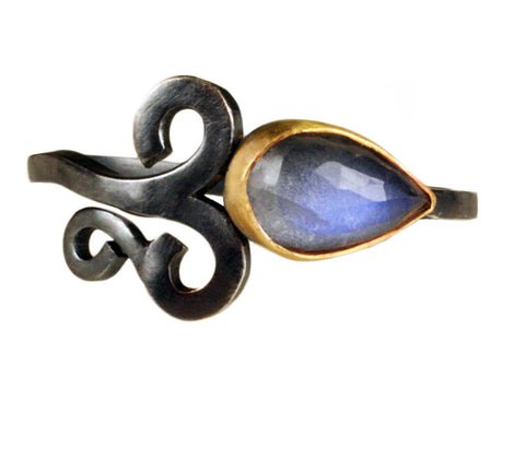 Moonstone Curl Ring