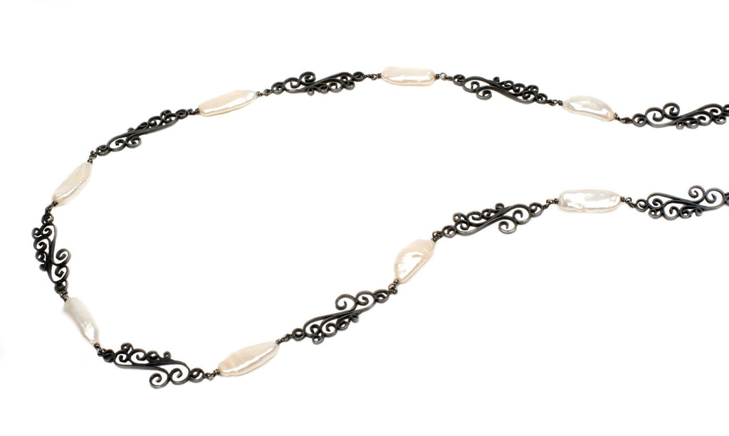 Pearls and Waves Necklace