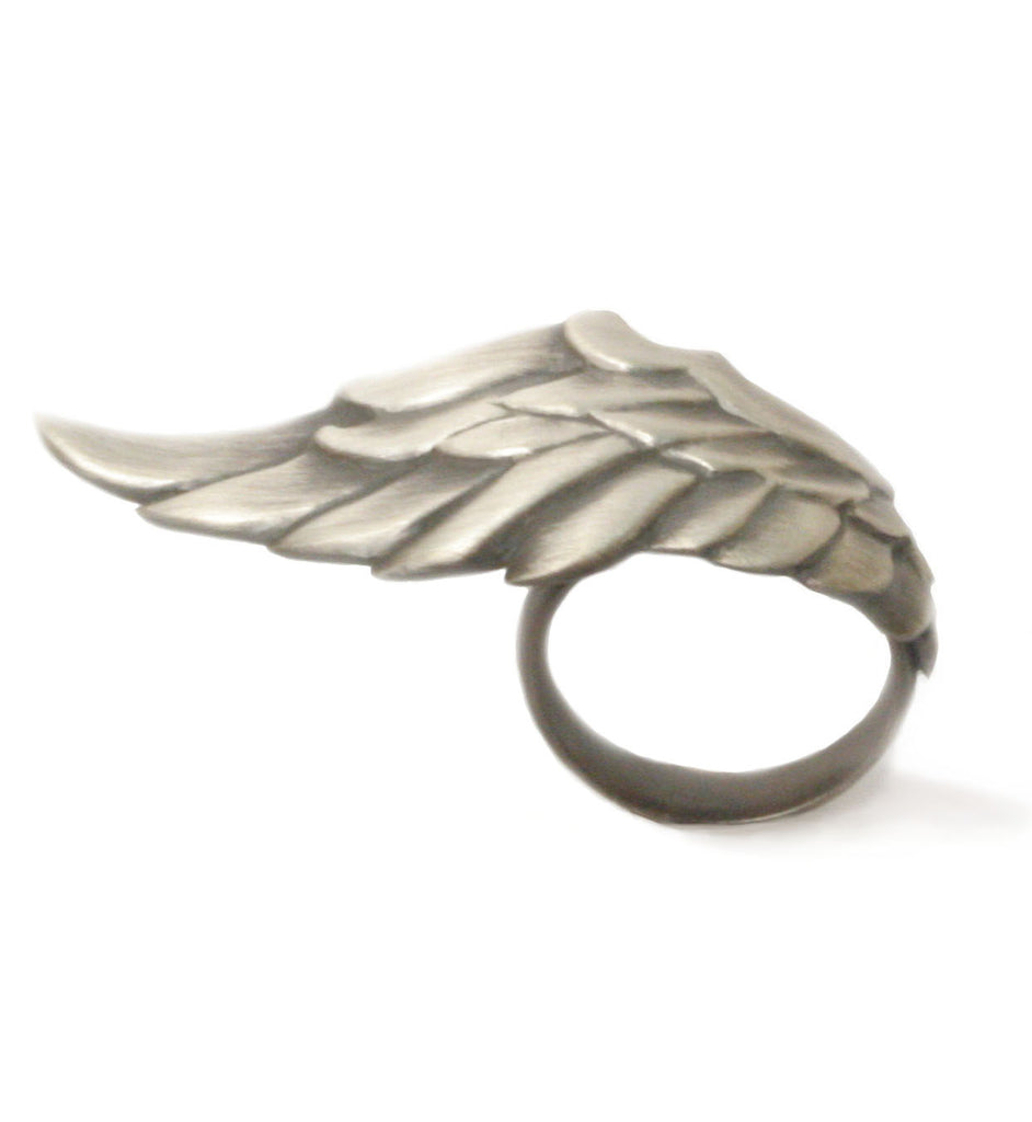 Valkyrie Wing Ring in Silver